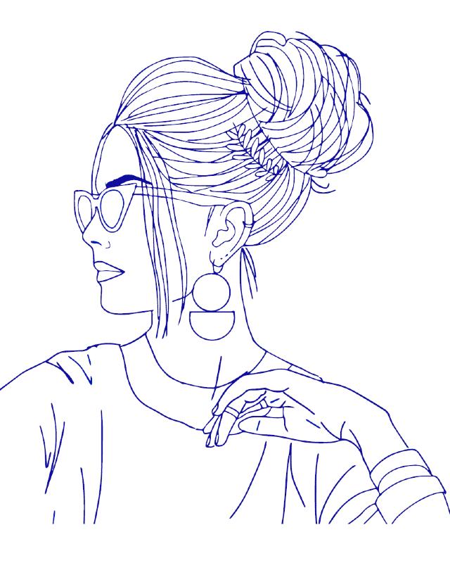desenho para bordado mulher