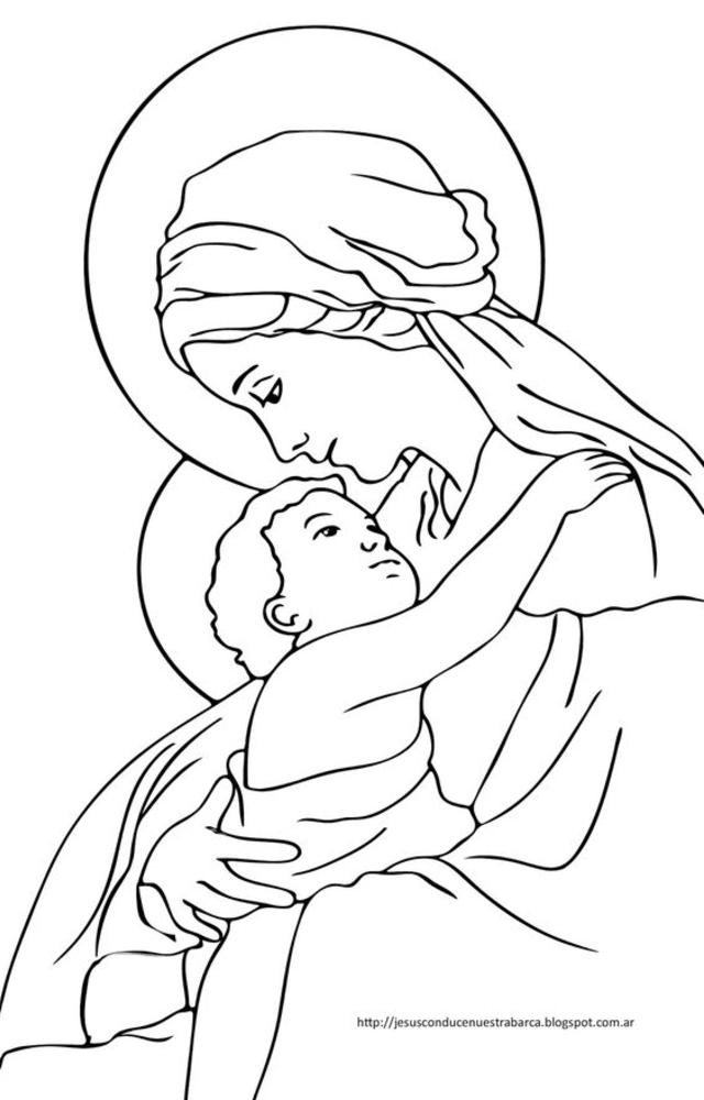 desenho para bordado santa