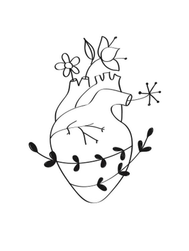 desenho para bordado coração