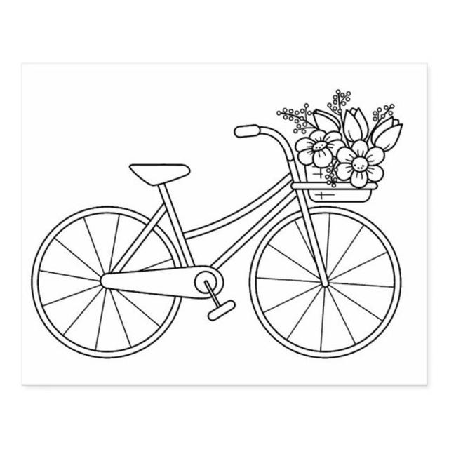 desenho para bordado bicicleta