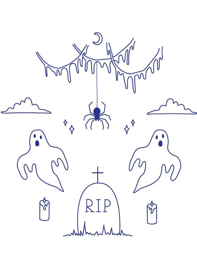 desenhos para bordado fantasmas