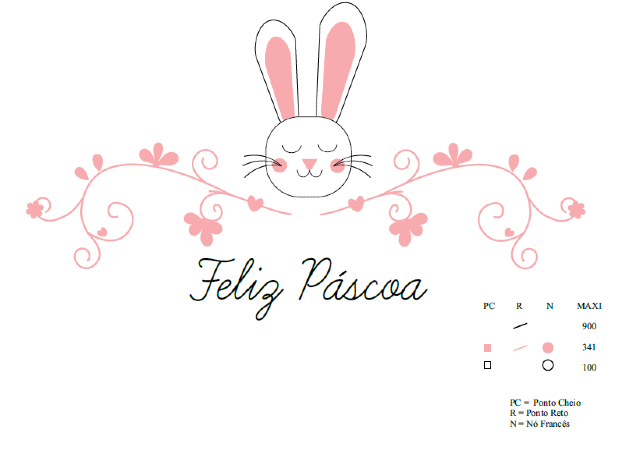 desenho para bordado coelho