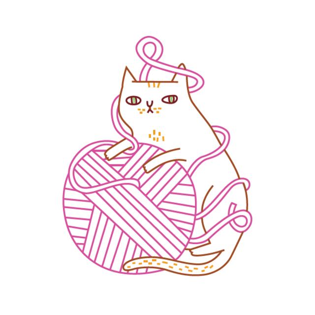 desenho para bordado gato