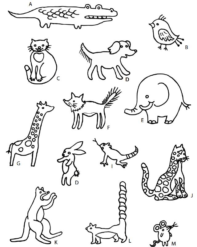 desenho para bordado animais