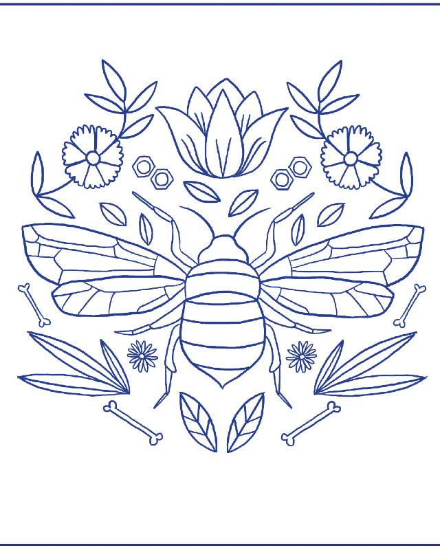 desenho para bordado besouro