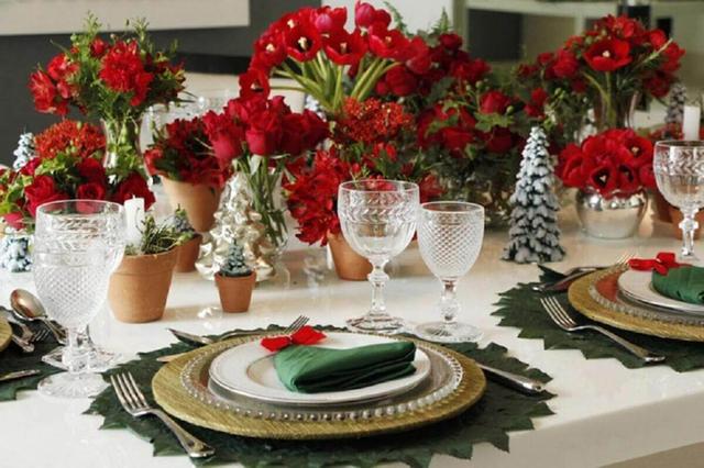 mesa de jantar sousplat