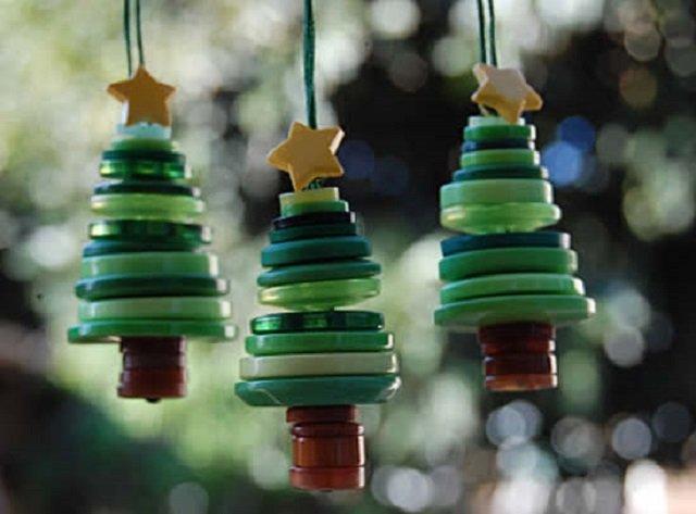 Ornamentação de Natal com botões