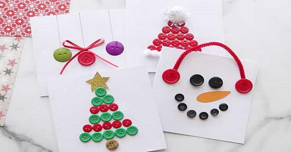 Botões na Ornamentação de Natal