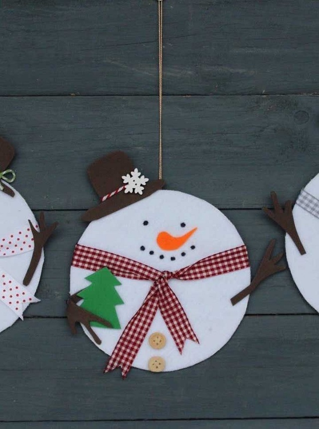Decoração de Natal simples com CD