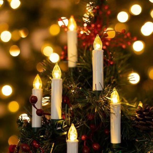 Decoração natalina com vela