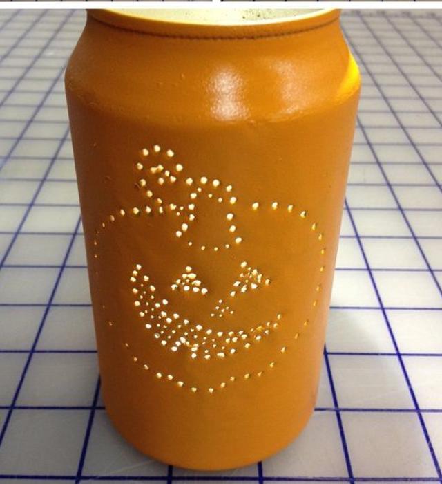 Artesanato com lata de cerveja