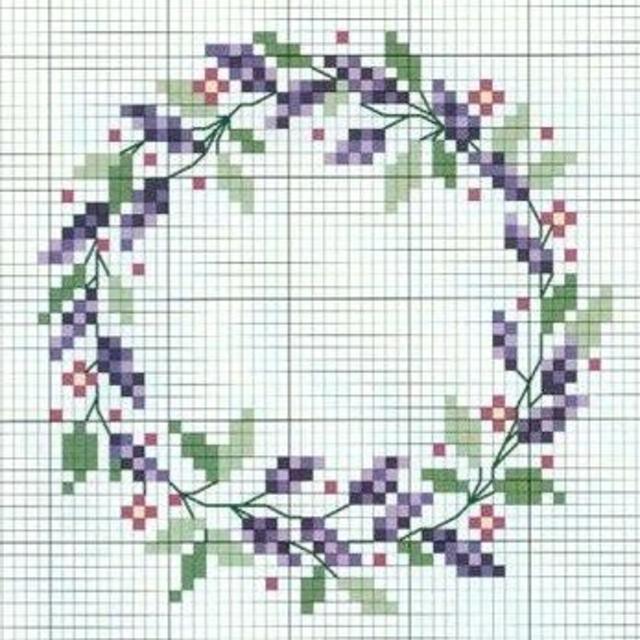 Flores de ponto cruz