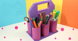 Porta lápis de eva