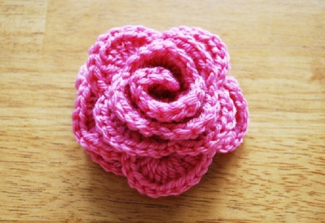 Rosa de crochê