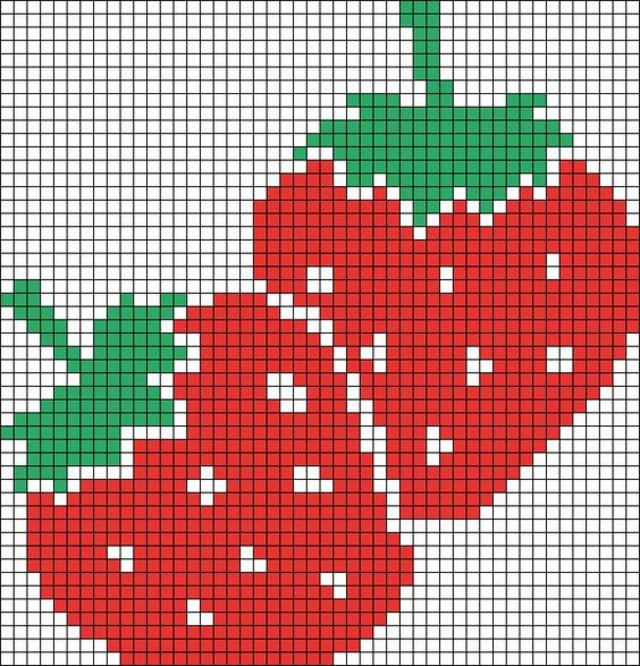 Gráficos grátis de Frutas em Ponto Cruz