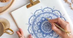 Desenhos e Moldes Gratuitos Para Pintar Mandala