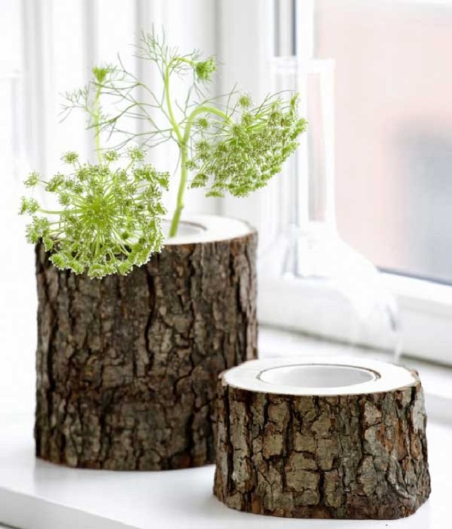 Artesanato com Tronco de Árvores