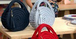 Bolsa de Crochê Redonda: Passo a Passo com Gráfico Simples