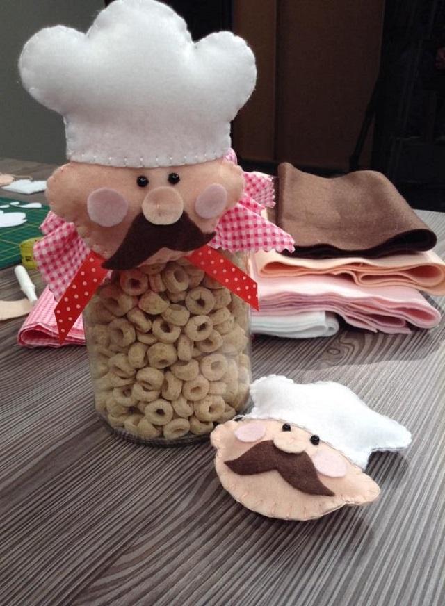 Artesanato com Feltro - utilitários Para sua Cozinha