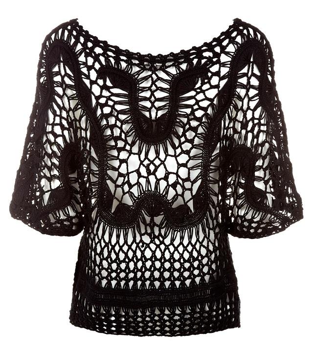 Crochê de Grampo: blusa linda