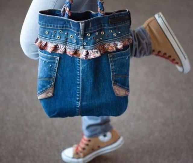 Passo a passos de Bolsas com Jeans