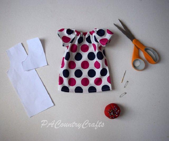 Como Fazer Vestido de Boneca Simples