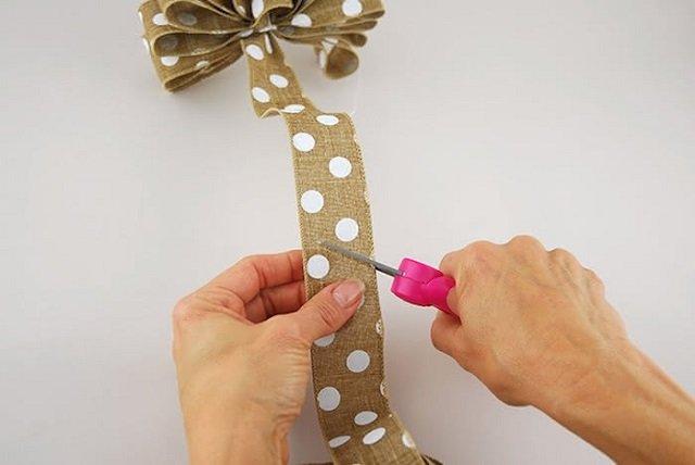 como fazer laços de Natal